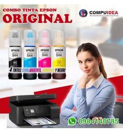 Combo de Tintas Epson 544 Color Cyan, Magenta Amarillo y Negro 4 tintas por este genial precio