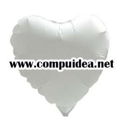 GLOBO CORAZON  A4 (18 CM) EN BLANCO